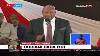 Former Speaker of the National Assembly Francis Ole Kaparo honours Former President Daniel Moi