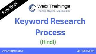 Digital Marketing Tutorial (Hindi) - Keyword Research Process