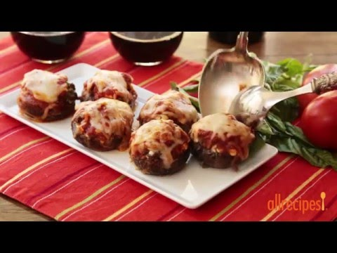 How to Make Lasagna Stuffed Mushrooms | Mushroom Recipes | Allrecipes.com