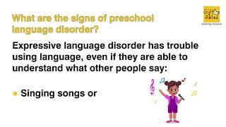 Preschool Language Disorder