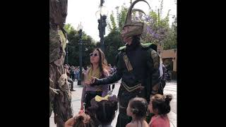 Loki takes a group of Princess Friends to meet his friend Groot at Disney California Adventure