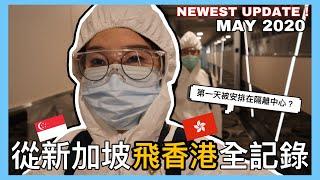 【香港新加坡Vlog】回香港了🇭🇰從新加坡飛香港機場回家全過程!富豪東方酒店 隔離中心!居家隔離丨香港入境程序丨留學生Luna