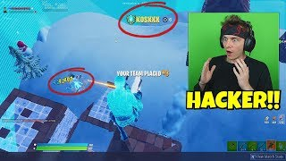 found aimbot hacker in playground on fortnite... (i talked to him..)