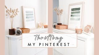 Thrifting My Pinterest | Entryway Makeover DIYs And Decorating