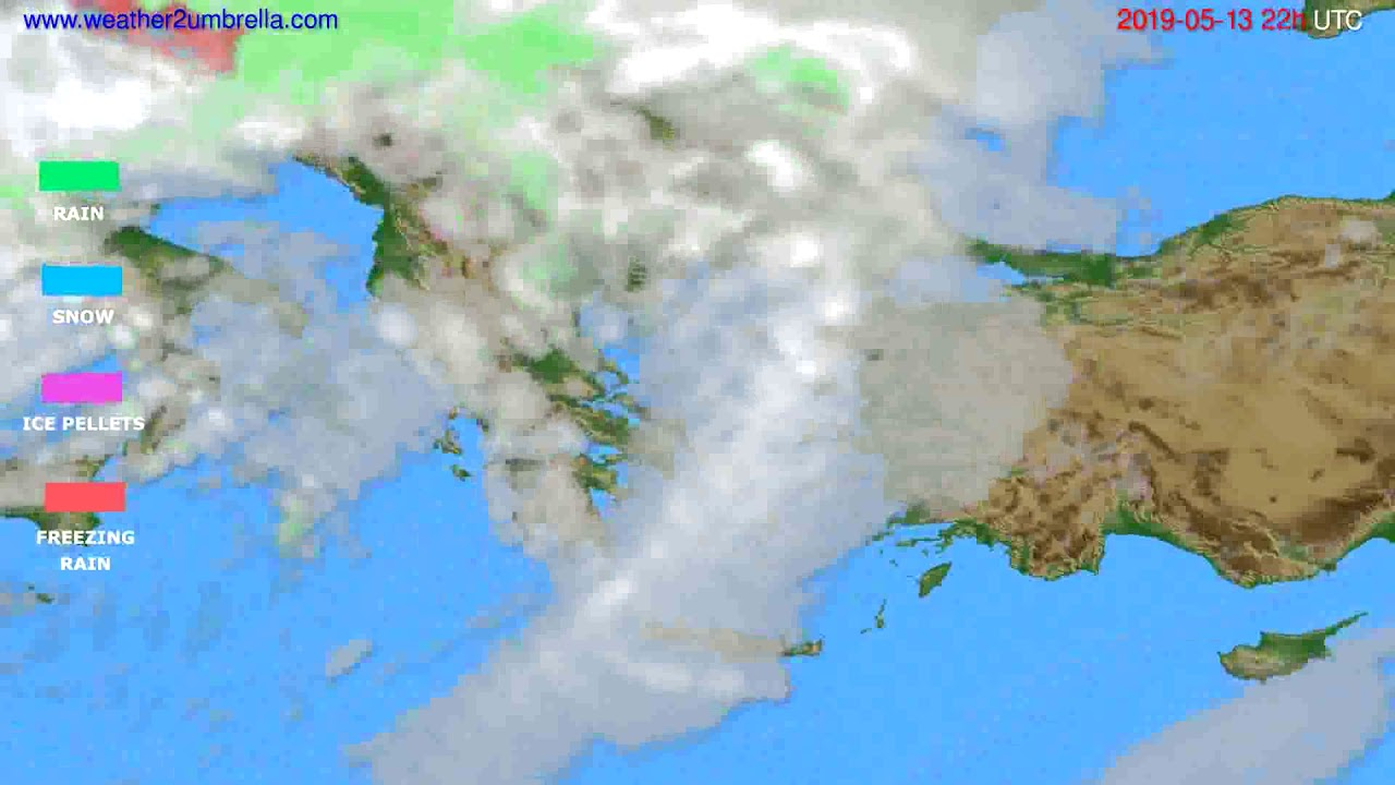 Precipitation forecast Greece // modelrun: 12h UTC 2019-05-11