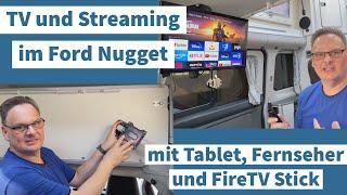 TV und STREAMING im FORD NUGGET | mit Tablet od. Fernseher | DVB-T2 u. Amazon FireTV Stick im Camper
