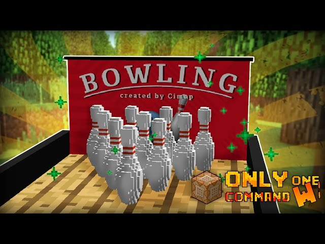 Bowling With Only One Command Block Minecraft Cimap - Minecraft teleport player command block