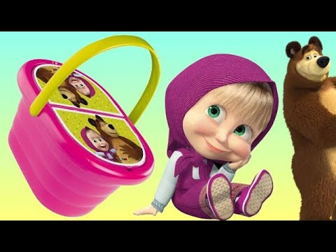 Masha And The Bear PICNIC Basket Play-doh Toy Set Mp3