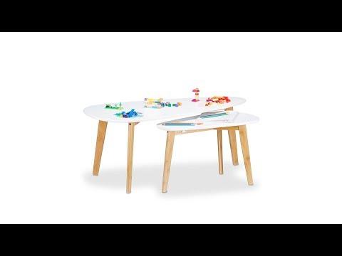Satztisch aus Holz in Pfeilform