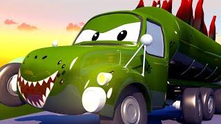 Autogaráž pro děti - Z Tysona je Stegosaurus - Tomova Autolakovna ve Městě Aut