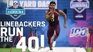 Linebackers Run the 40-Yard Dash   2019 NFL Scouting Combine Highlights