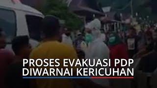 Evakuasi Pasien PDP di Maluku Tengah Diwarnai Kericuhan, Petugas Berpakaian APD Dikepung Warga