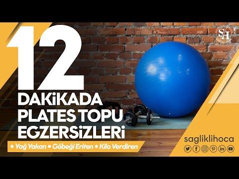 12 Dakika - Pilates Topu ile 12 Dakikada Yağ Yakan - Kilo Verdiren - Göbeği Eriten Egzersizler