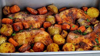 PERFECT ROASTED CHICKEN AND POTATOES: BAKED CHICKEN AND POTATOES