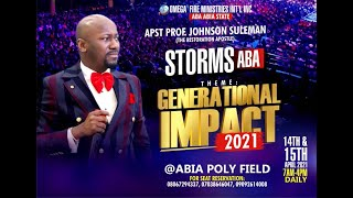 IMPACT 2021 WITH APOSTLE JOHNSON SULEMAN// ABA, ABIA STATE, NIGERIA ( Day 1 Evening Session
