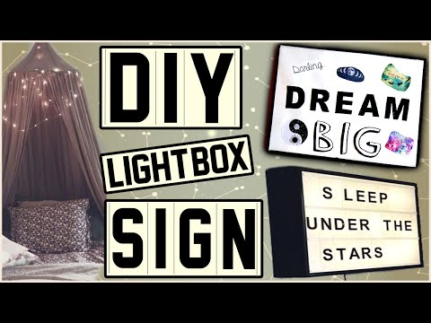 DIY Light Box Sign! | Make Your Own Light Box Letter Sign! | Easy and Cheap! | Tumblr Inspired!