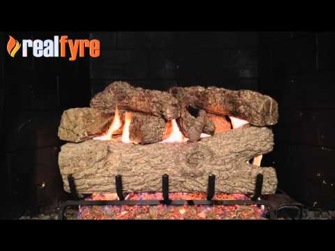 Peterson Royal English Oak Gas Logs Demonstration