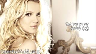 Britney Spears - Radar (Lyrics Video) HD