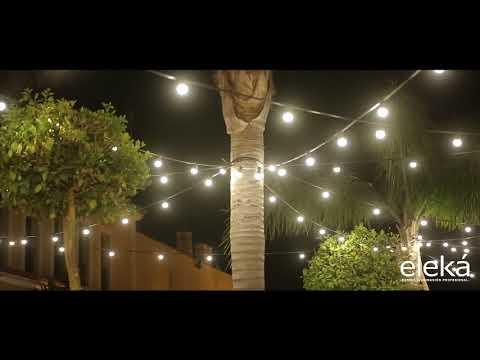 guirnaldas de bombillas, iluminación exterior para eventos