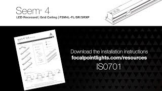 Seem 4 LED Grid Installation Instructions