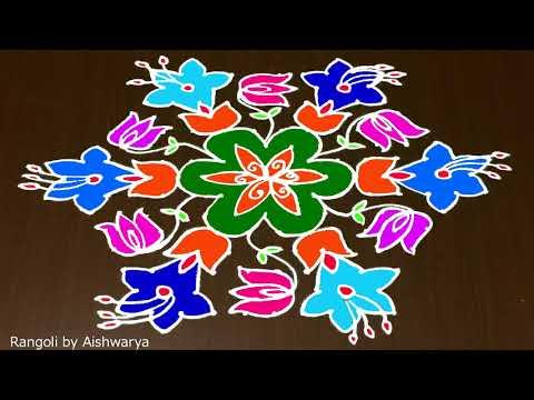 Download Pongal Rangoli Kolam 15 To 8 Pongal Paanai Kolam With