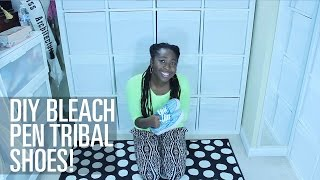 CRE8TIVE SOUL | DIY BLEACH PEN TRIBAL SHOES!