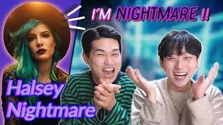 K Pop Artist Reaction] Halsey   Nightmare