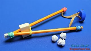 How To Make A Slingshot Using Pencils - Office Supplies