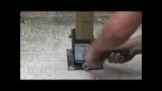 How to Install a Fence Post onto Concrete