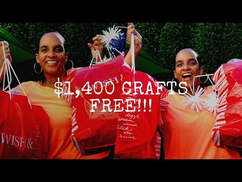 $1400 CRAFT HAUL JoAnn Fabric FREE!