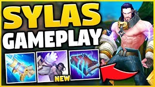NEW CHAMPION SYLAS IS 100% BEYOND BROKEN! (STEAL ANYONES ULT) SYLAS TOP GAMEPLAY!