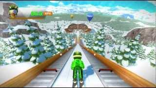 Top Jumps skiing minigame Kinect Sports Season Two Xbox 360 720P gameplay