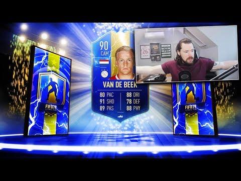 INSANE 90 RATED TOTS VAN DE BEEK SBC! - FIFA 19 Ultimate Team