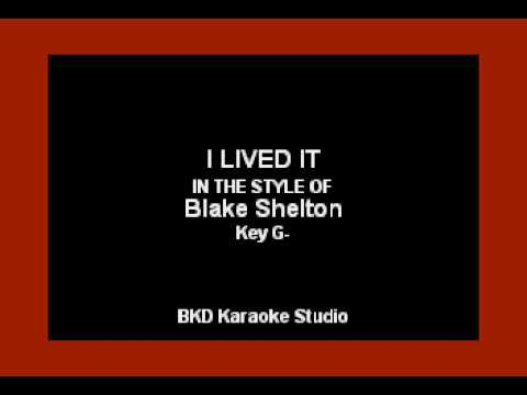 Blake Shelton - I Lived It (Karaoke Version) Mp3