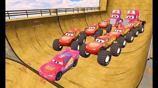 Мультики про Машинки Цветные Машинки Молния Маквин и Человек Паук  Мультфильм для Детей