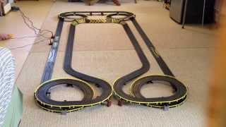Large Tyco Slot Car Track Mega Helix II HO Scale Layout