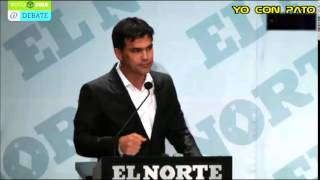 PATRICIO ZAMBRANO EN EL DEBATE PERIODICO EL NORTE ALCALDIA DE MONTERREY