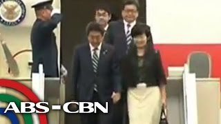 WATCH: Shinzo Abe arrives in Manila for official visit