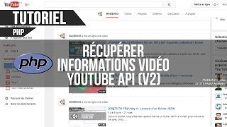 [PHP][TUTO FR] Récupérer les informations d'une vidéo YouTube API