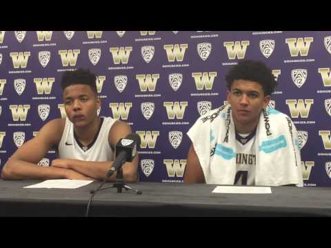 Markelle Fultz, Matisse Thybulle discuss Huskies' 98-90 loss to Yale