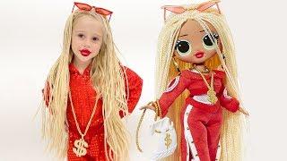 Nastya dresses up like a doll