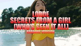 Secrets from a Girl (Who's Seen it All) - Lorde (Instrumental Karaoke) [KARAOK&J]