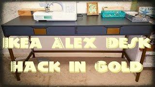 DIY: Ikea Alex Desk Hack