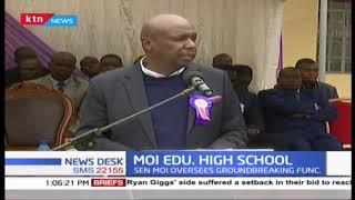 Baringo Senator Gideon Moi oversees the groundbreaking opening of Moi Educ Center high school