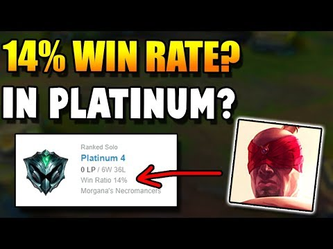 This guy Achieved a 14% WIN RATE in PLATINUM with over 40+ GAMES? How is this possible??