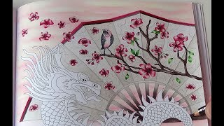 How I Color Chinese Dragon Background Tutorial 1 Prismacolor Drache Sternzeichen Petra Zipfel