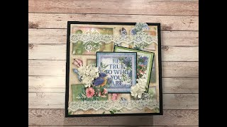 BEGINNERS MINI ALBUM TUTORIAL PART 1 | FLOWERS FOR YOU | SHELLIE GEIGLE | J&S HOBBIES AND CRAFTS