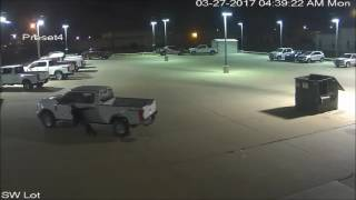 Suspected Car Thieves Caught on Camera Chasing Runaway Truck