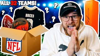 ONE SIGNED MYSTERY ITEM FROM ALL 32 NFL TEAMS! (This is Insane!)