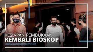 Tinjau Persiapan Pembukaan Bioskop, Menparekraf Luncuran Kampanye Nasional Indonesia Care